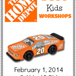 FREE Home Depot Kids Workshop – Build A Race Car (2/1/14)