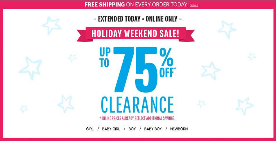 The Children's Place: Clearance Blowout Sale With Prices Up To 75% Off + FREE Shipping